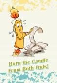 Hoří svíčky z obou konců