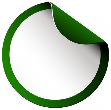 Green circle border sticker