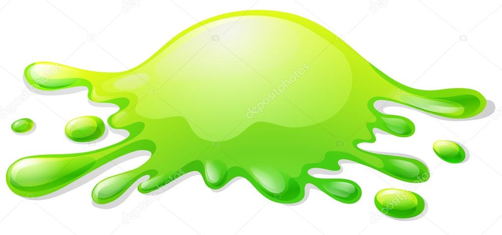 Green Slime On White Stock Vector Blueringmedia 82544170