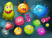 Fényképek Monster arc baktériumok