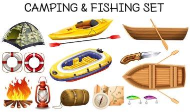 Camping and fishing equipments