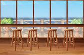 Fotografie Im Restaurant mit Bar und Hocker