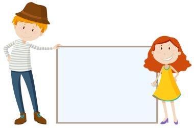 Tall man and short girl
