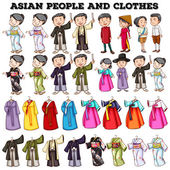 Photo Asian people and clothes