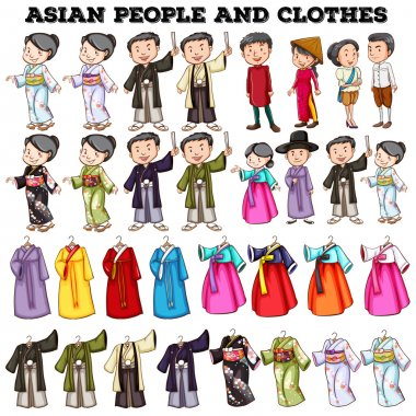 Asian people and clothes