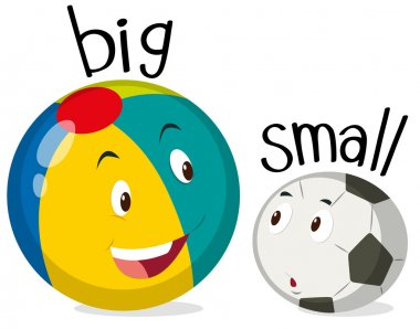 Two balls one big and one small illustration stock vector