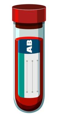 Blood sample in test tube illustration stock vector