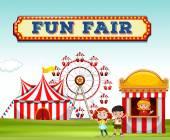 Fotografie Children buying ticket at fun fair