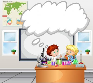 Children doing experiment in the classroom