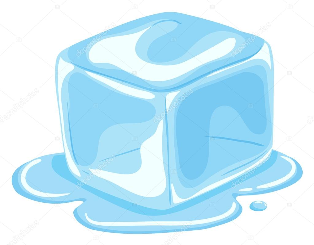 Pedaço Do Cubo De Gelo Derretendo