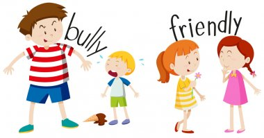 Bully boy and friendly girl