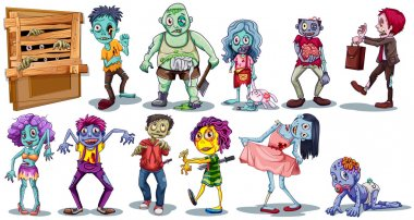 Different character of zombies