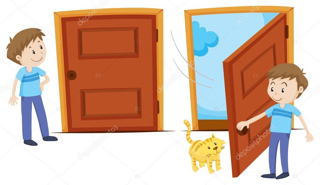 Imágenes: Dibujo De Puerta Abierta Y Cerrada