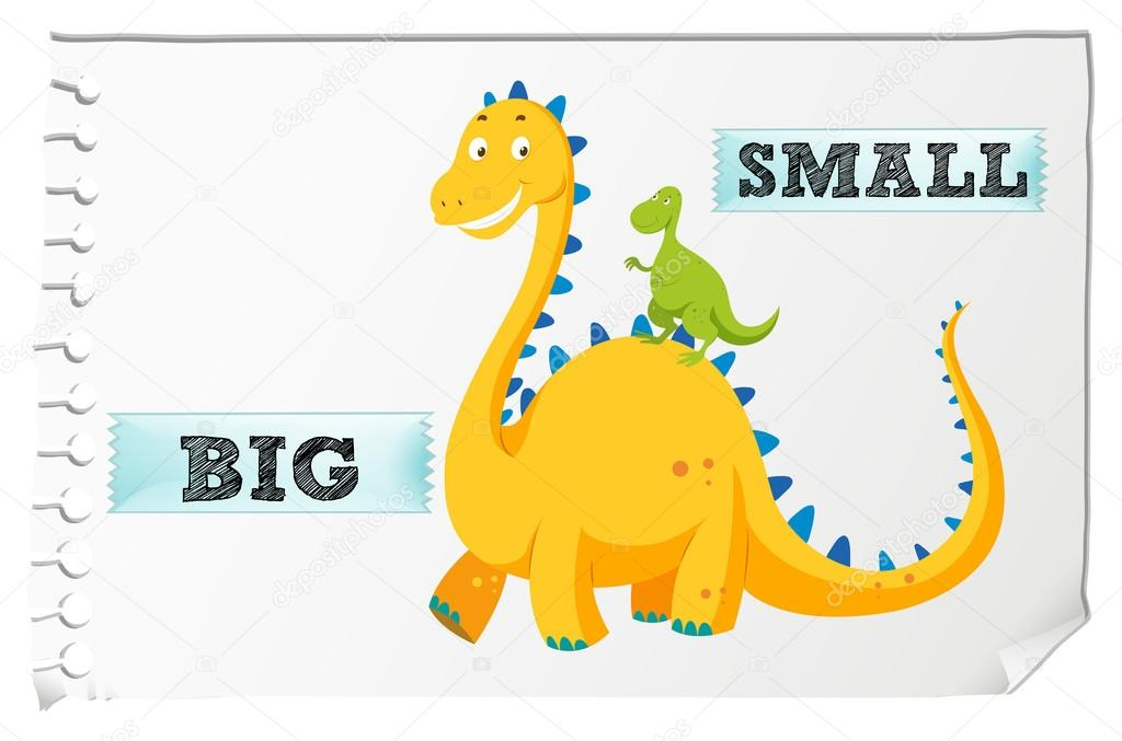 c4d0f98b5dcb Opposite adjectives with big and small — Stock Vector ...