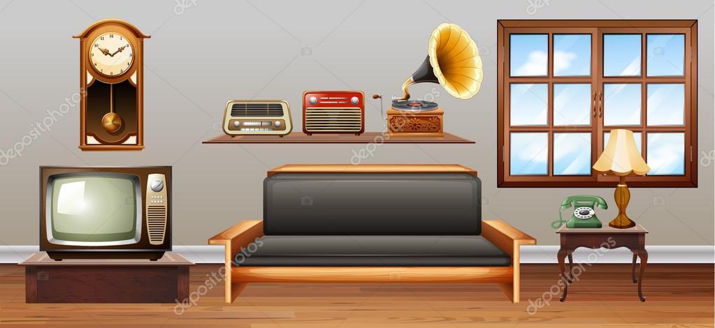 Objetos Vintage En La Sala De Estar