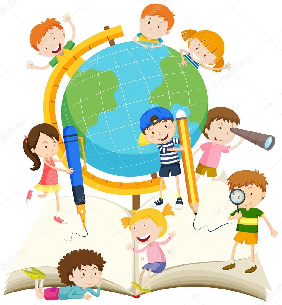 crian u00e7as escrevendo e lendo o livro vetor de stock  u00a9 blueringmedia 98703150 child reading clipart images child reading bible clipart