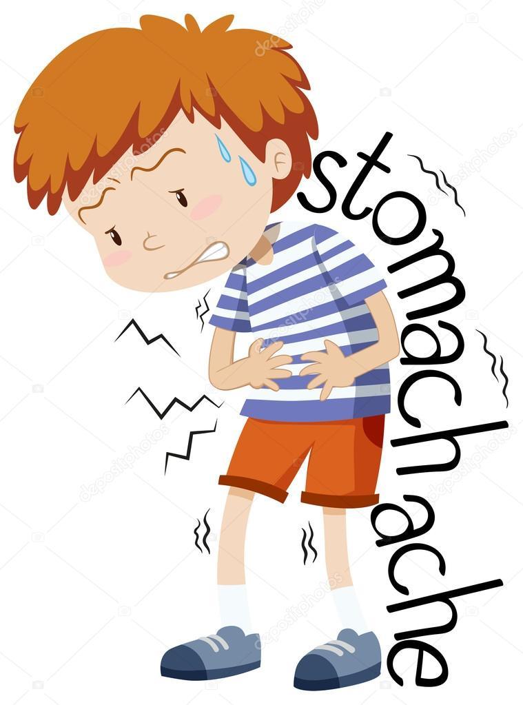 ni u00f1o enfermo con dolor de est u00f3mago vector de stock stomach clip art free clipart stomach ache