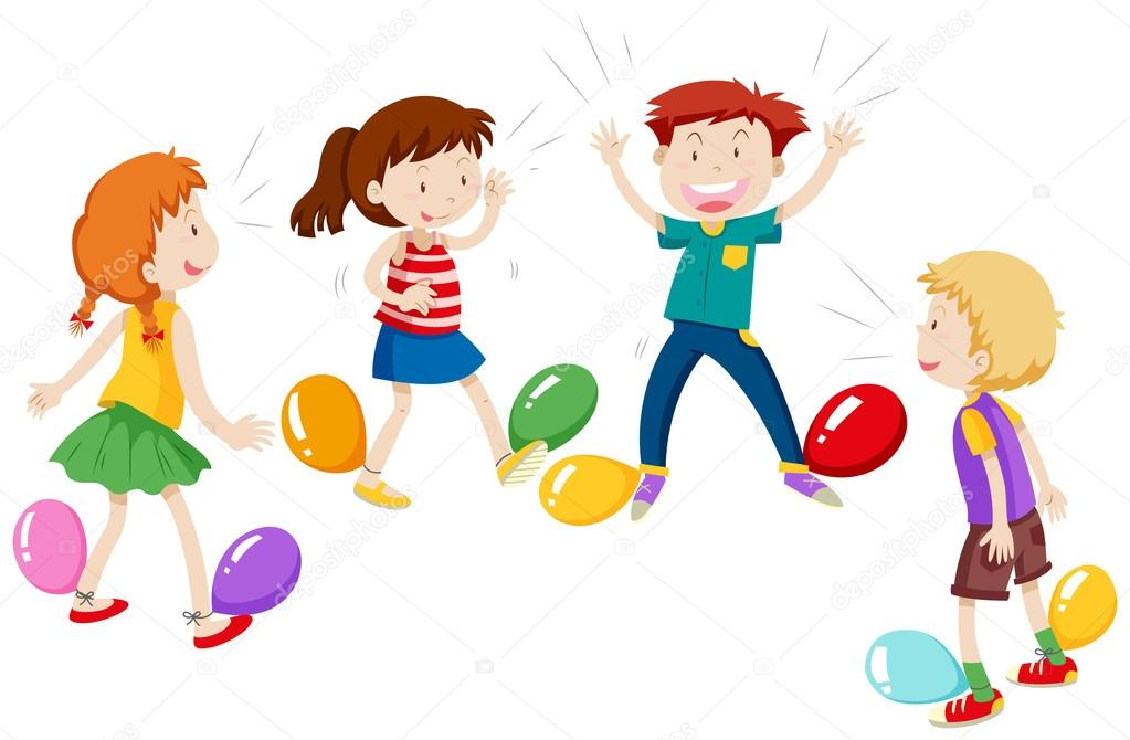 Game of balloon popping — Stock Vector © blueringmedia #99315328