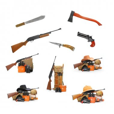 Camping and hunting equipment