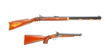 Two vintage weapons from american history