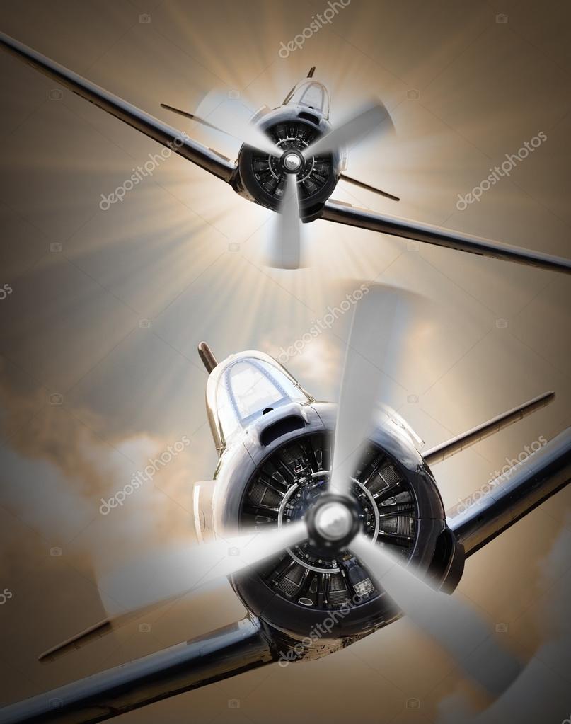 Vintage fighter planes