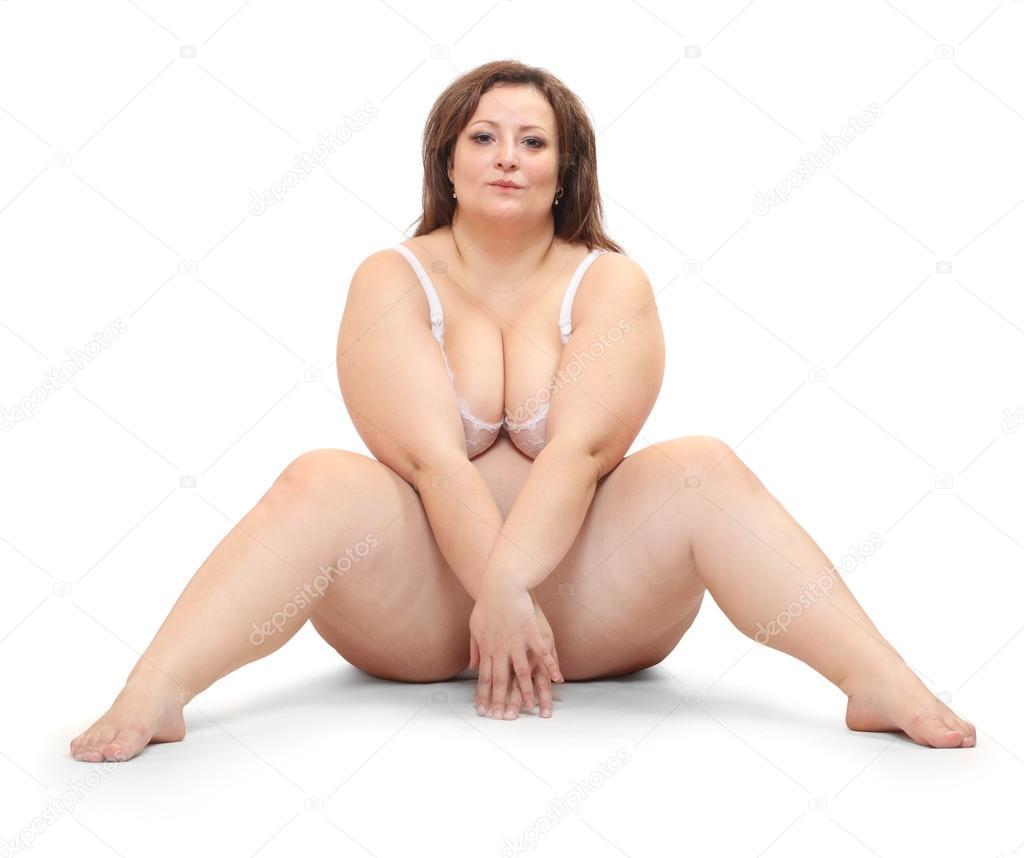 bergewichtige frau in bikini gekleidet stockfoto vladvitek 65979397. Black Bedroom Furniture Sets. Home Design Ideas