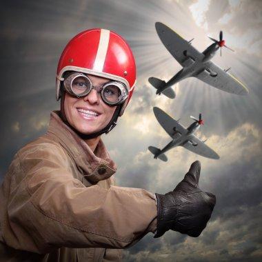young woman pilot