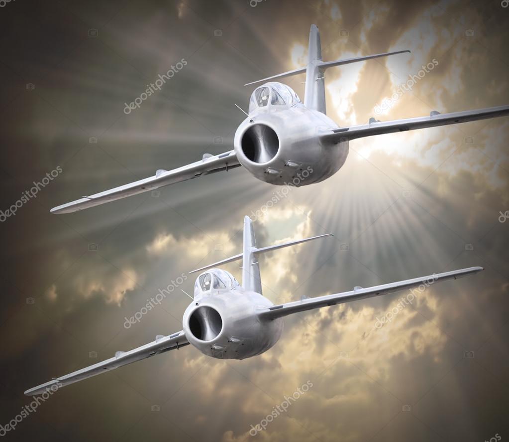 Old jet fighter planes