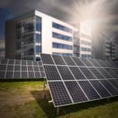 Solar panels view