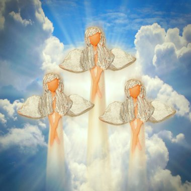 Three angels on the heaven