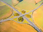 Fotografie Letecký pohled na dálnici D5