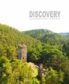Fotografie Letecký pohled na středověký hrad Libstejn