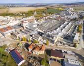 Letecký pohled na průmyslové zóny a technologického parku