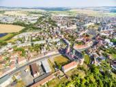 Letecký pohled na město Přeštice