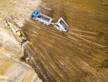Aerial view of constraction