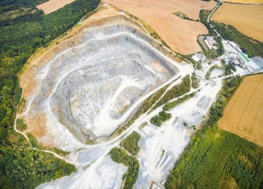Aerial view of abandoned mine