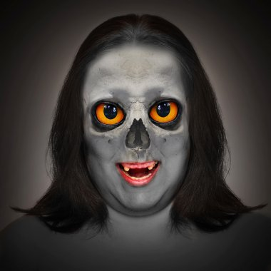 Portrait an zombie woman.