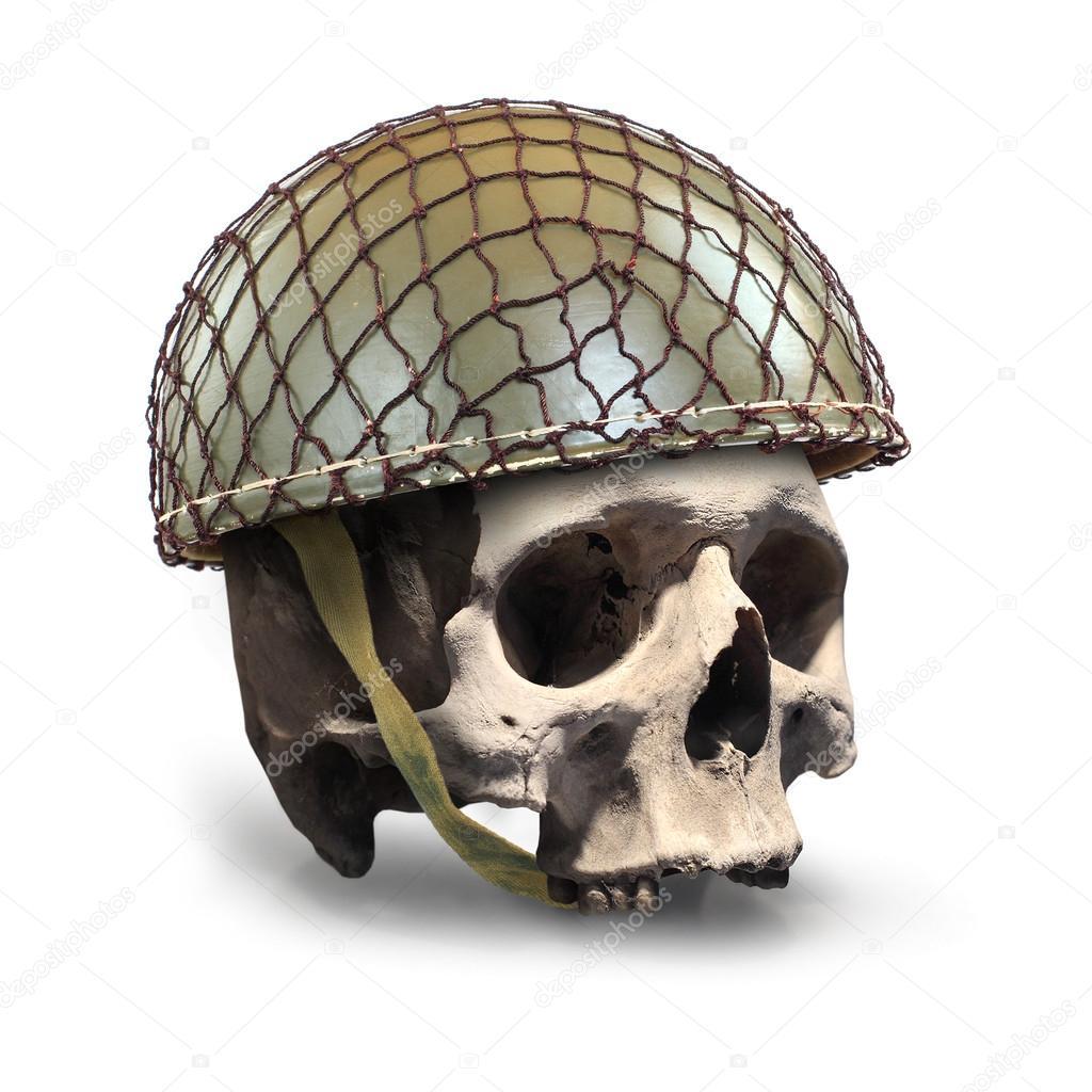 Crânio com capacete militar retrô — Stock Photo © vladvitek  95900440 98cdd63605d