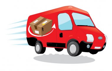 fast shipping courier van