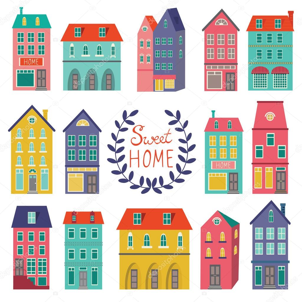 Colorful houses collection