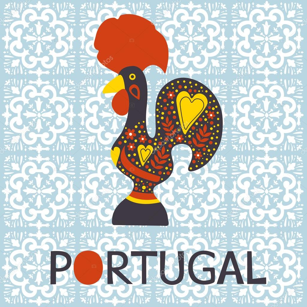 Illustration Of Barcelos Rooster Symbol Of Portugal Stock Vector