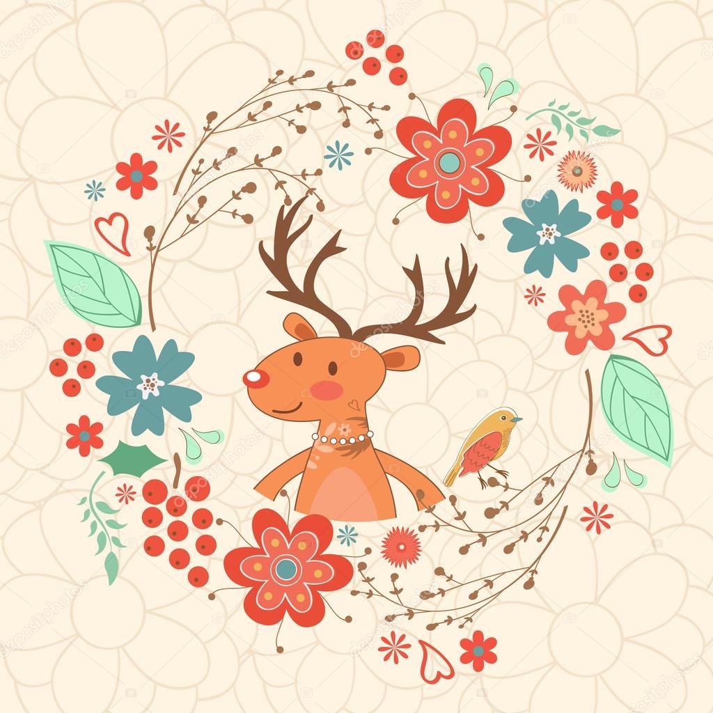 Hello my love card with deer