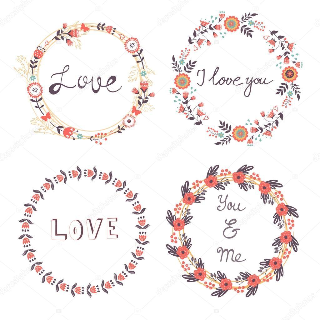 Romantic floral wreaths