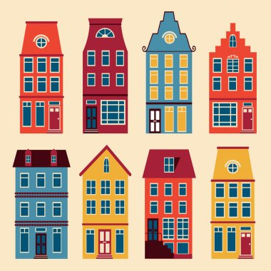 Cute Amsterdam houses set