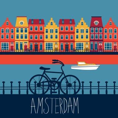 "Картина, постер, плакат, фотообои ""амстердамская карта "", артикул 70057011"