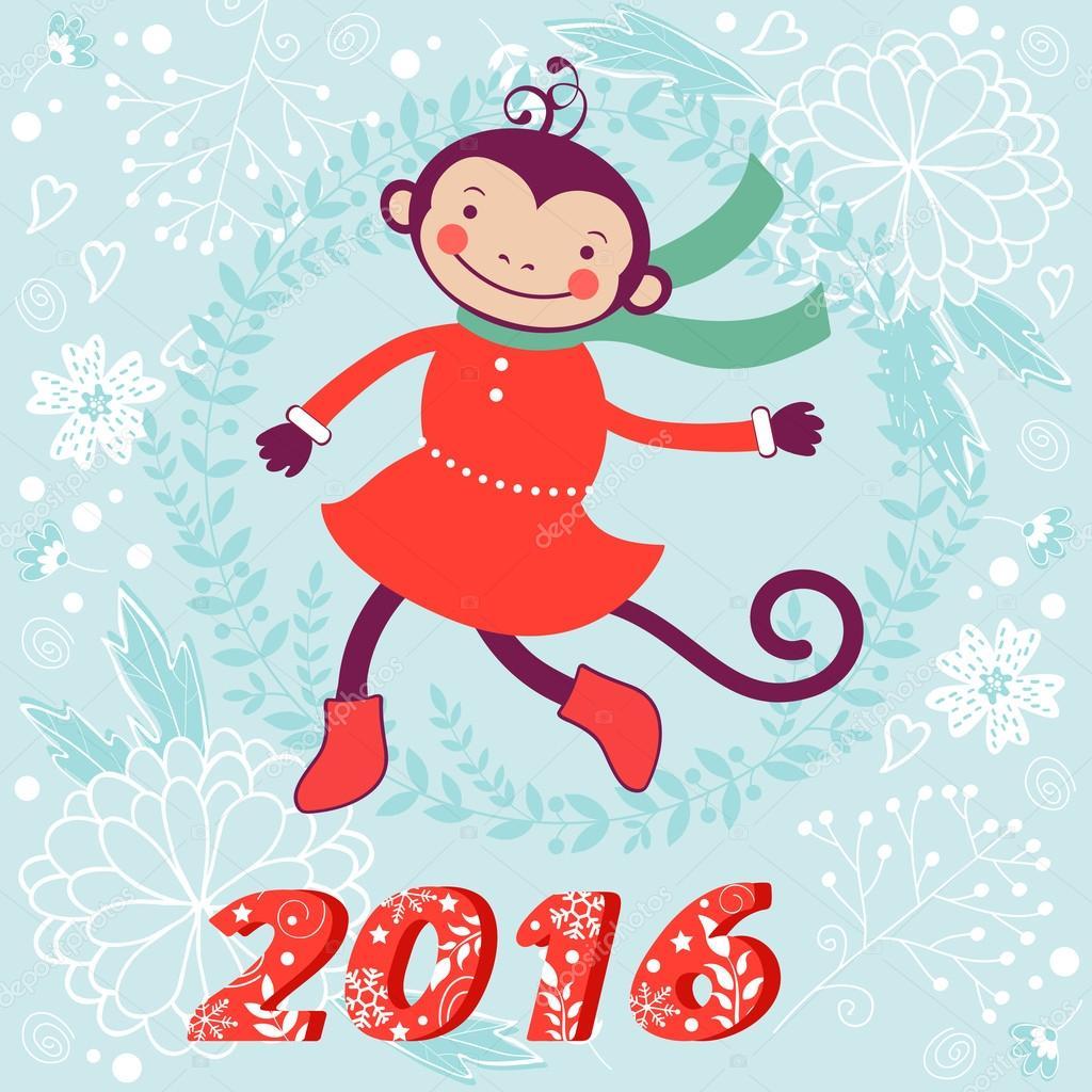 Смешные обезьяна символ 2016 года картинки, слова для