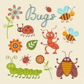 Aranyos gyűjteménye boldog kis bogarak