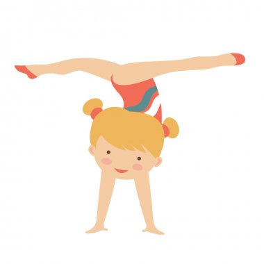 Little gymnast girl character