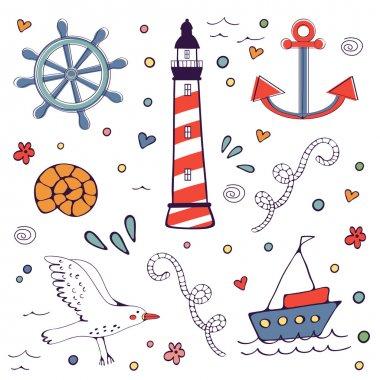 Colorfil sea doodles