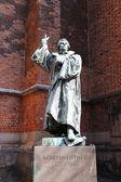 Fotografie Statue von Martin Luther in Hannover, Deutschland